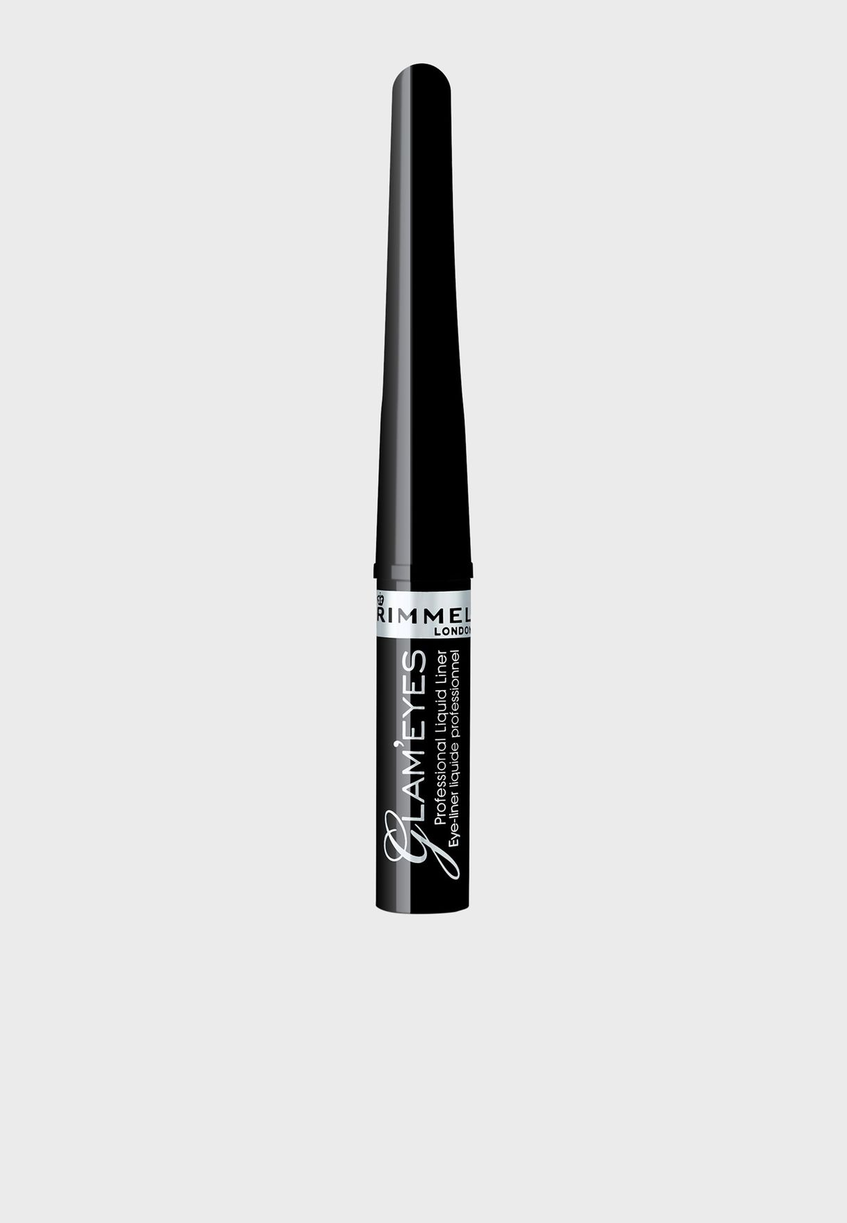 abcc6b230d5 Shop Rimmel London black Glameyes Professional Liquid Liner- 001 ...