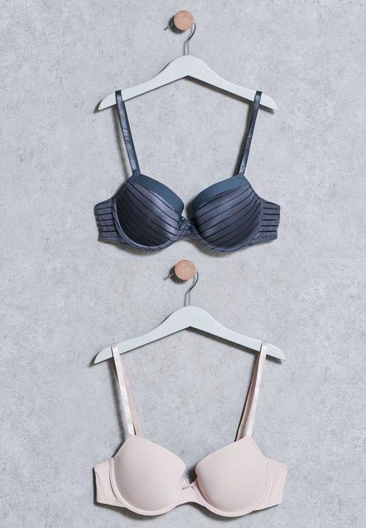 مجموعة من 2 صدرية مبطنة