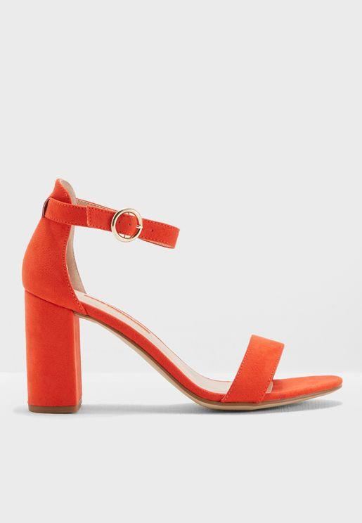 Shimmy Heeled Sandals