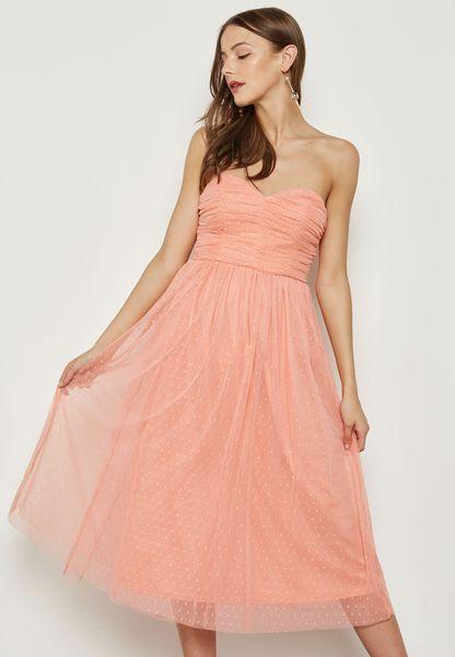 فستان شبه شفاف