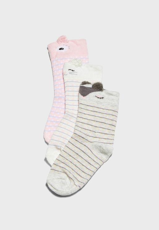 Kids 3 Pack Ankle Socks