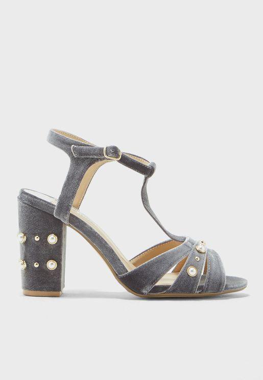 Bonnie Embellished Heeled Sandal
