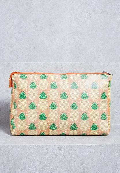 Tropical Pineapple Cosmetic Bag