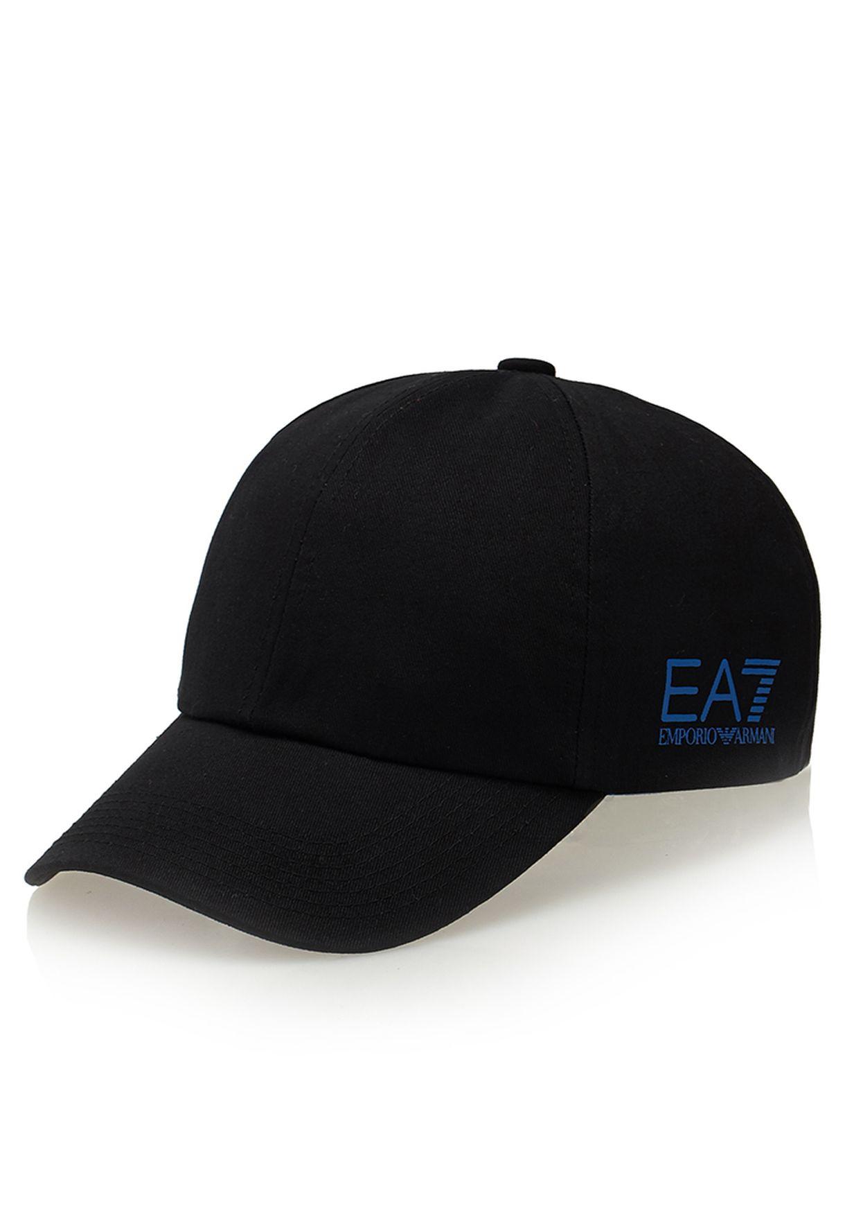 6fdd5d25 Shop Ea7 Emporio Armani black Core Baseball Cap for Men in Qatar ...