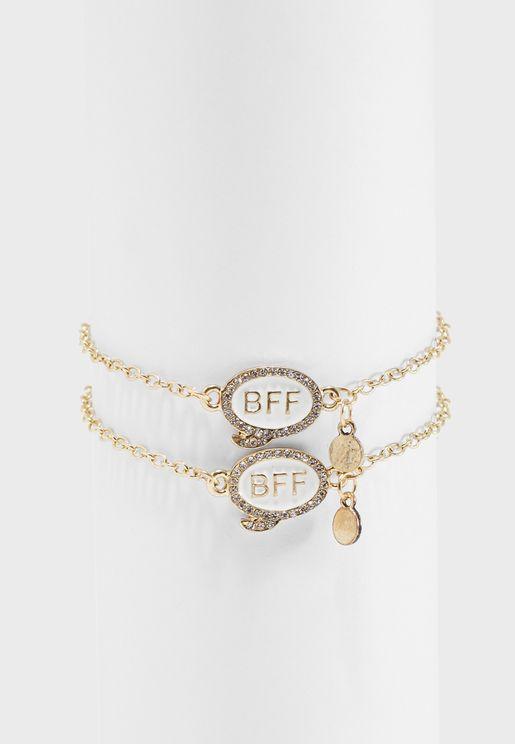 Set Of 2 BFF Bracelets
