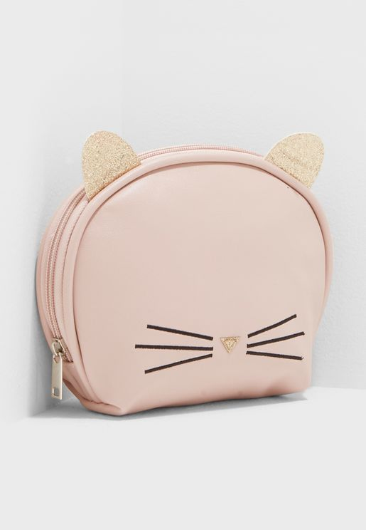 Cat Face Cosmetic Bag