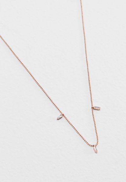 Short Baguette Stone Station Necklace