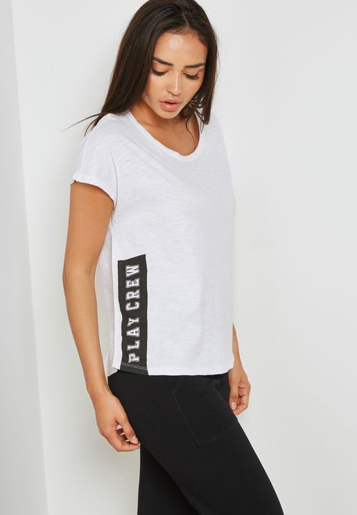 Side Slogan Detail T-Shirt