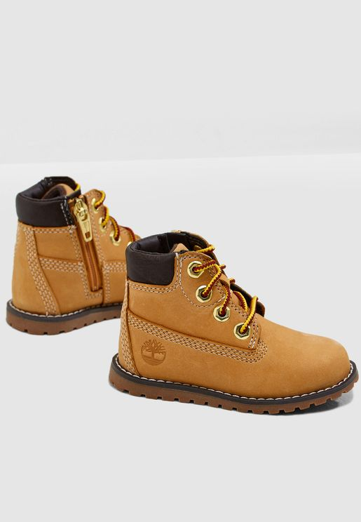 """Infant Pokey Pine 6"""" Boot with Side Zip"""