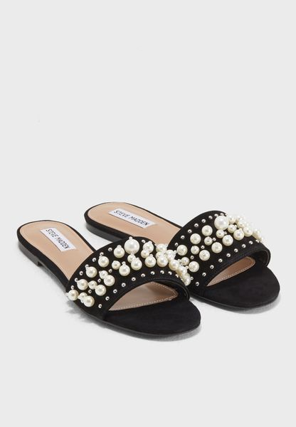 Shop Steve madden black Vanessa Flat Sandals VANESSA for Women in UAE -  ST977SH74OND