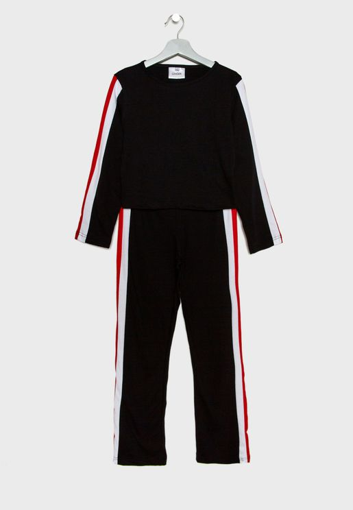Kids Striped Tracksuit