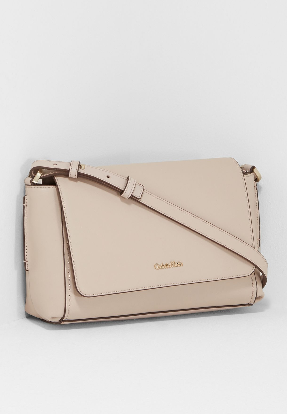 3572ad347a Shop Calvin Klein beige Chrissy Crossbody K60K603671012001 for Women ...