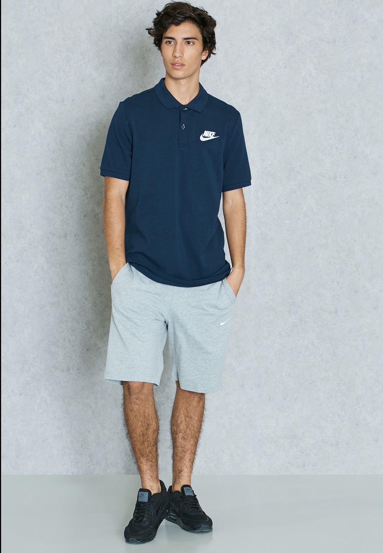 30c11e19 Shop Nike navy Matchup Pique Polo 829360-451 for Men in Qatar ...
