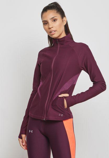 Threadborne Mesh Zip Through Sweatshirt