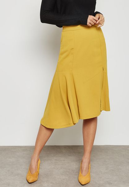 Front Slit Detail Skirt