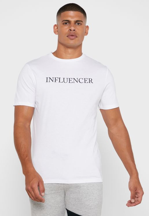Influencer Print  Crew Neck T-Shirt