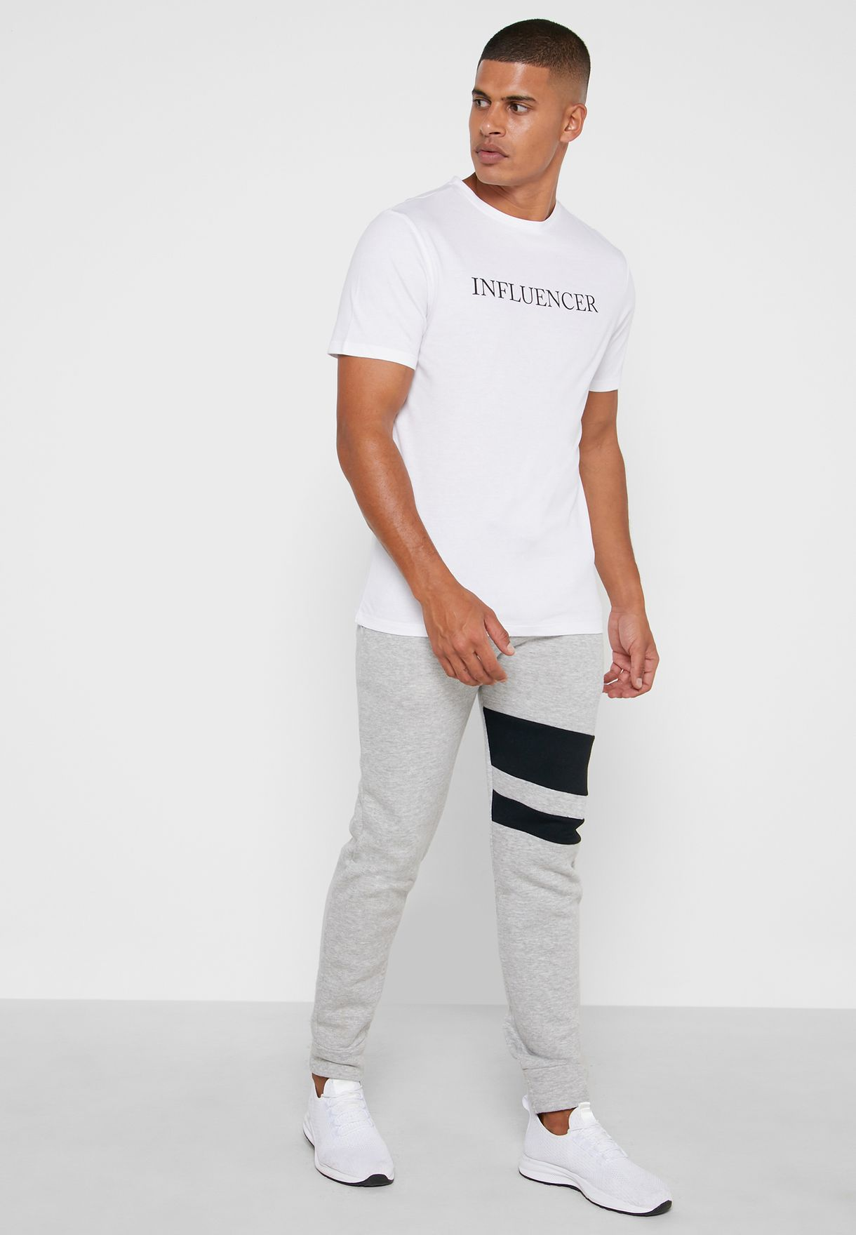 Slogan Print Crew Neck T-Shirt