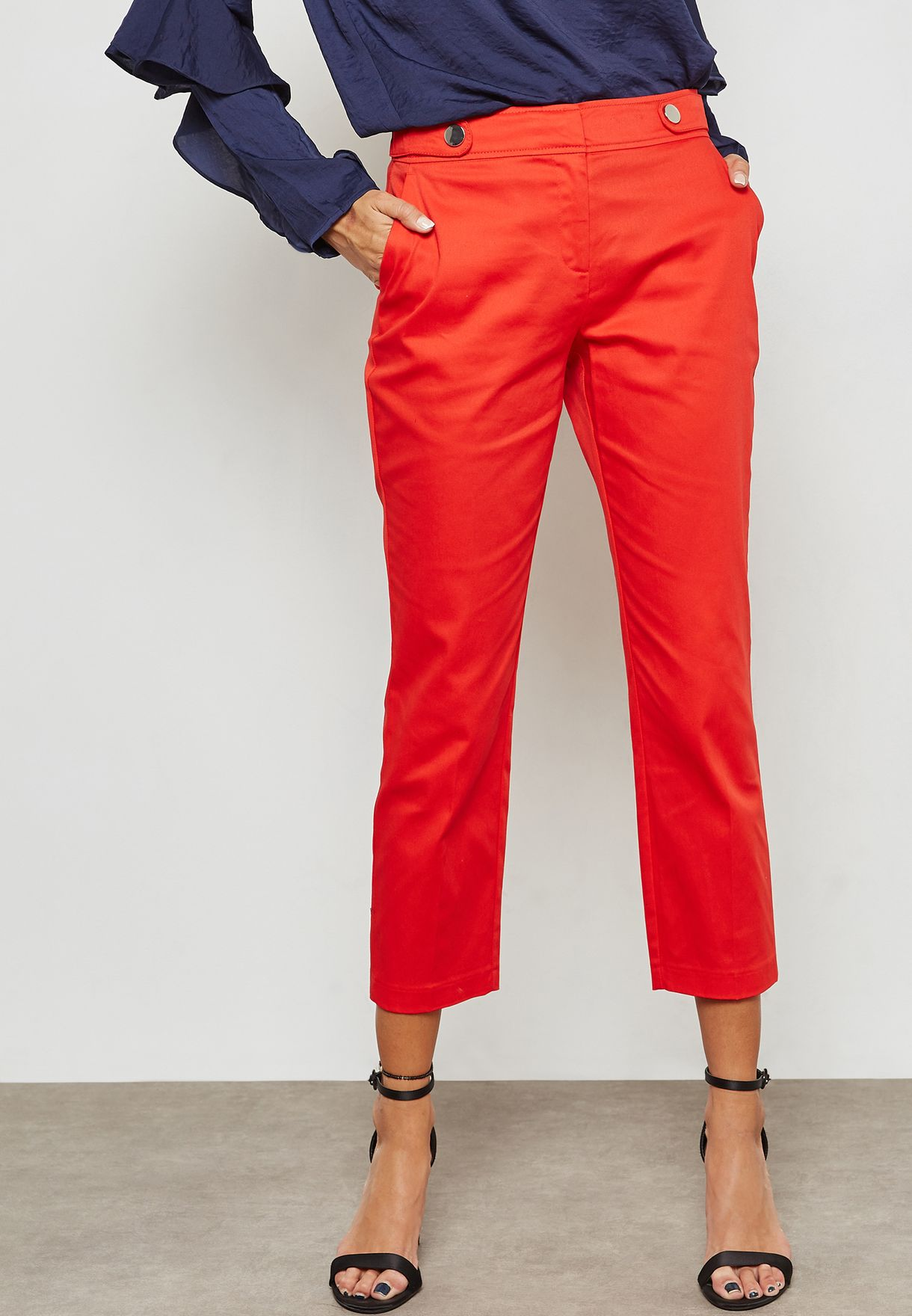 Buttoned Tab Pants