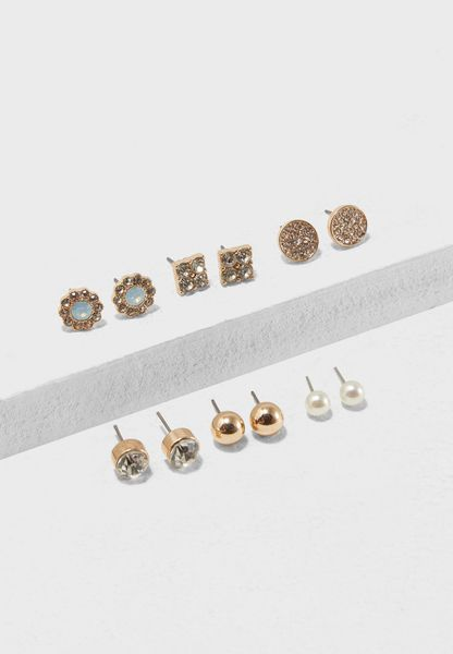 Assorted Earrings Pack Of 5