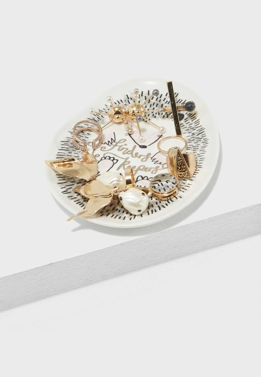 Over The Moon Hedgehog Dish Tray