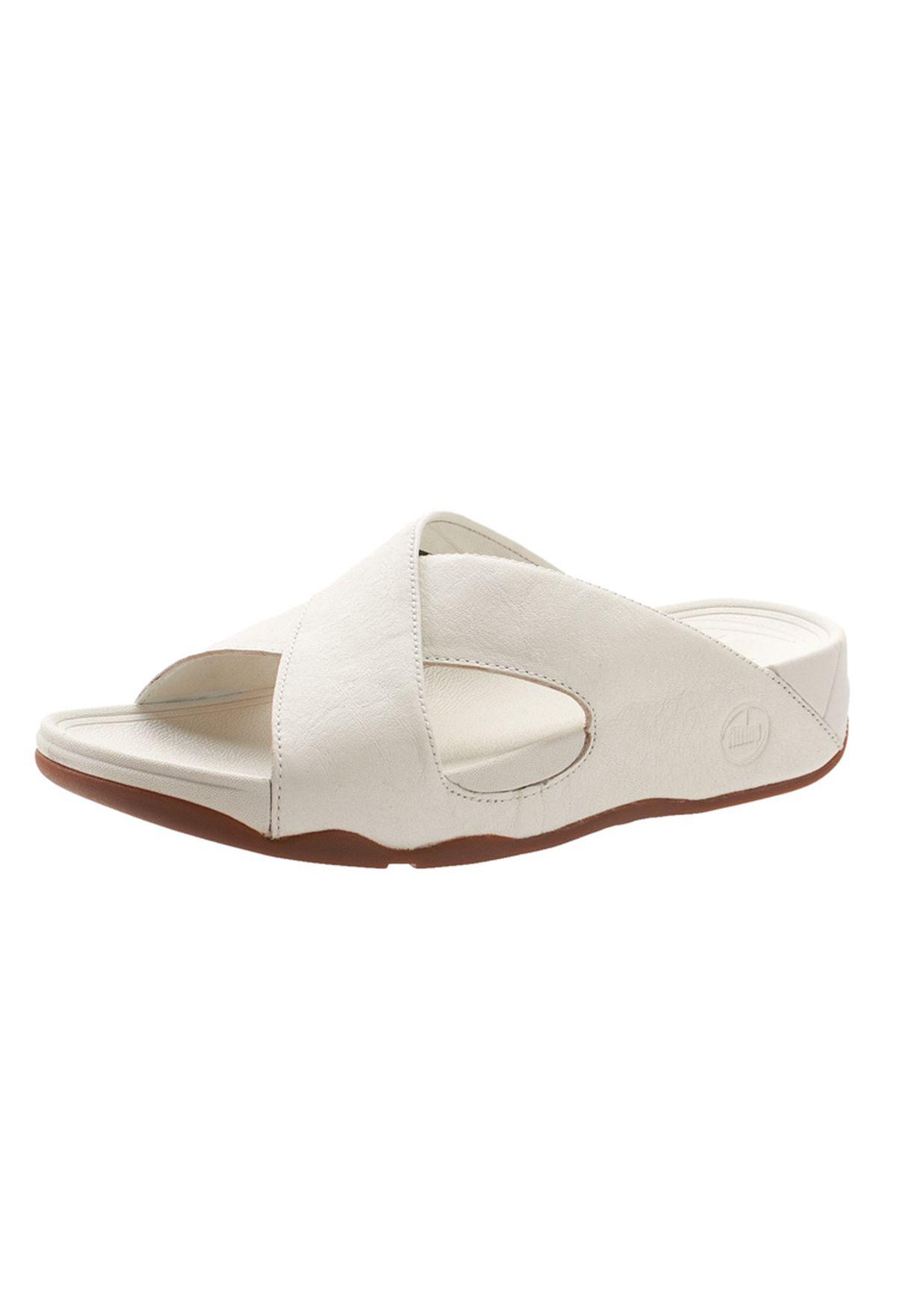 25419dbb1aab Shop Fitflop white Xosa Casual Slides for Men in UAE - FI008SH74DNH
