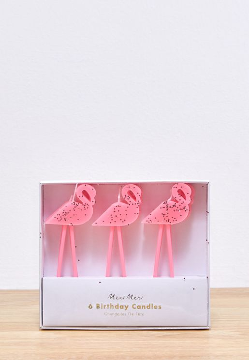 6 Pack Flamingo Candles