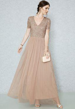 Embellished Top Tulle Dress