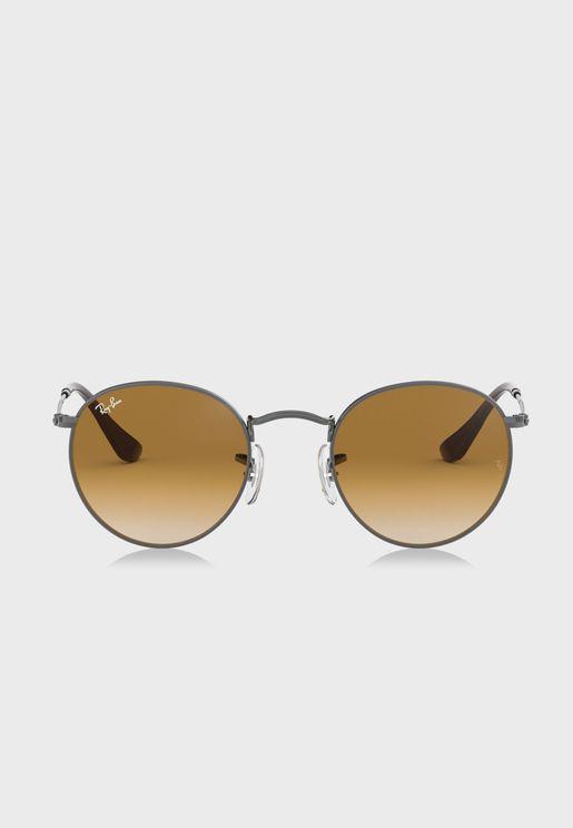 نظارة شمسية دائرية مسطحة 0RB3447N