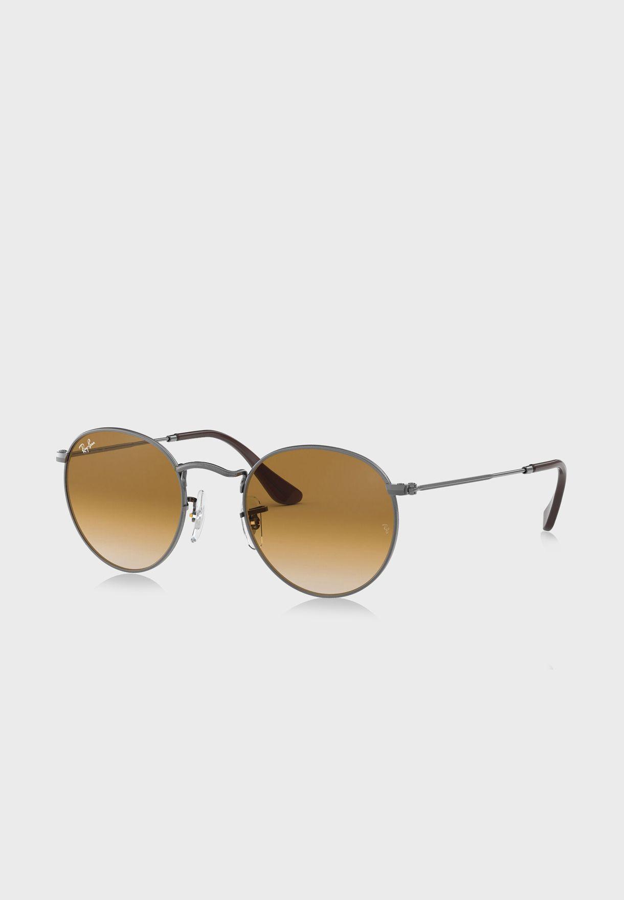 0RB3447N Round Flat Sunglasses