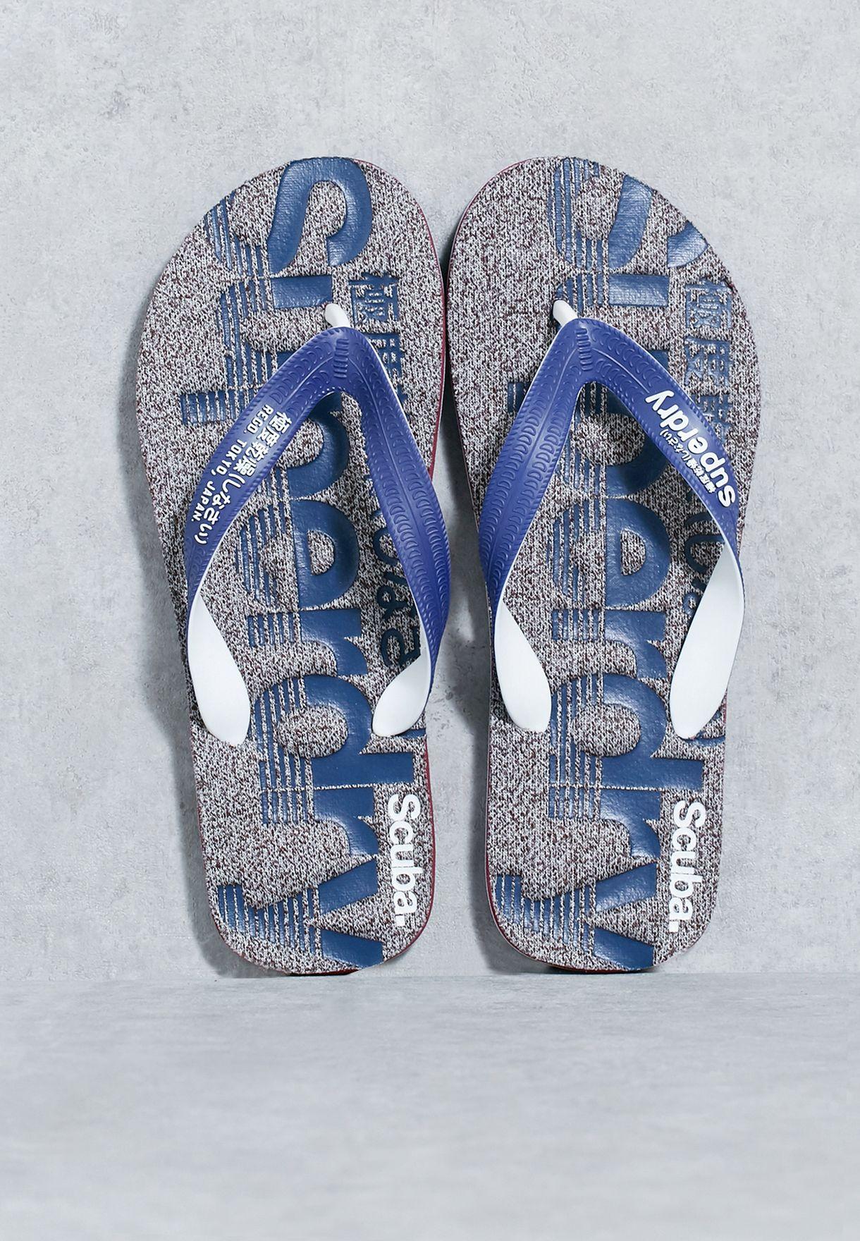 65340f6211913 Shop Superdry grey Scuba Marl Flip Flops MF3006SOF1 for Men in Bahrain -  SU847SH74XQV