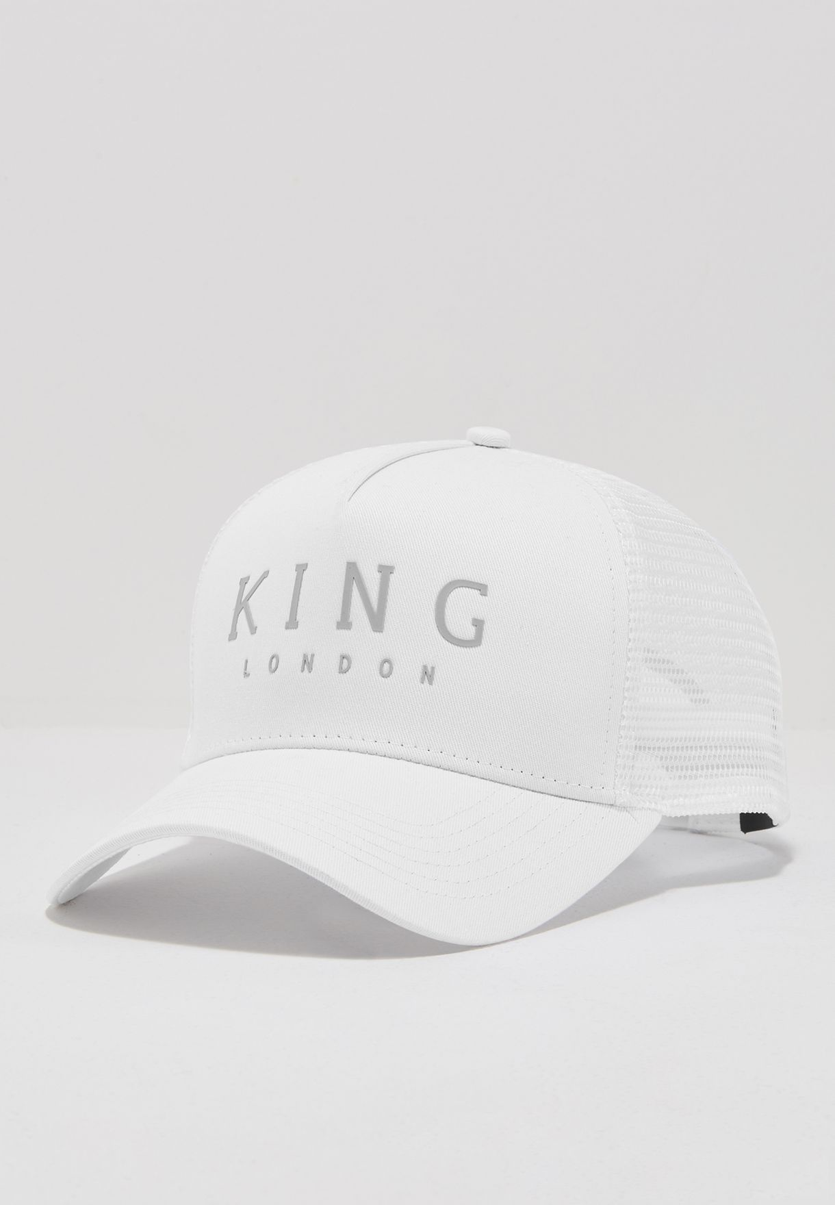 ad04c9554f7d9 Shop King Apparel white Mesh Trucker Cap ISS17-LMTW-OS for Men in ...