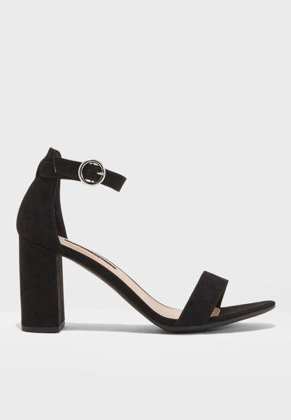 Shimmy Block Heel Sandal