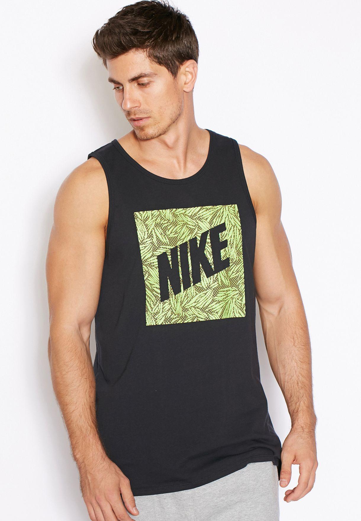 915e31ff92c8b Shop Nike black Palm Print Box Vest 779780-011 for Men in Qatar -  NI727AT74BLD