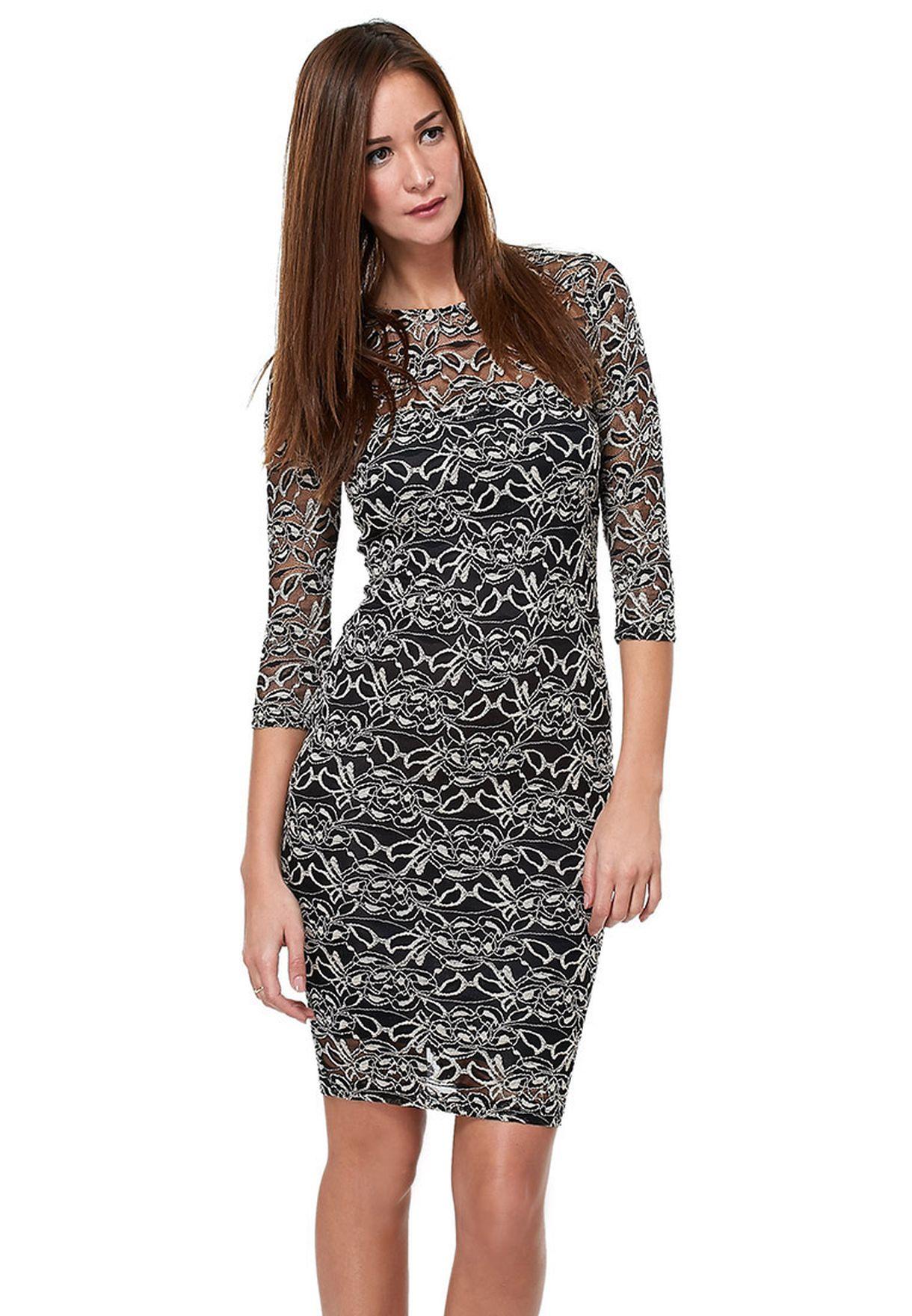 Shop Ax paris black Lace Midi Dress for Women in Qatar - AX257AT74HKF 9c6dfabfff