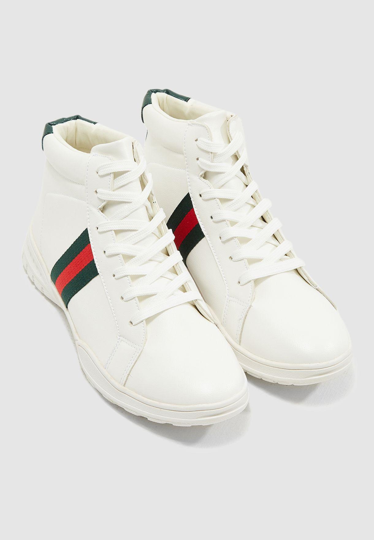 Webbing Detail Sneakers
