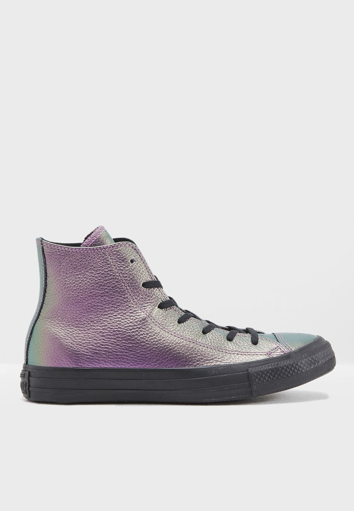 69d5bba9f2ff Shop Converse purple Chuck Taylor All Star Iridescent Leather ...