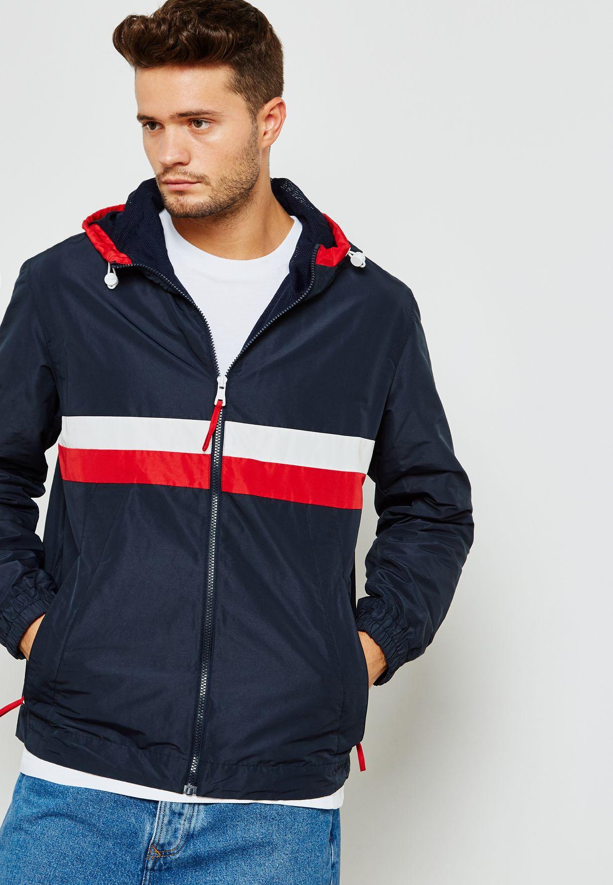 4dc09ad5 Shop Tommy Hilfiger navy Hooded Jacket MW0MW08472403 for Men in UAE ...