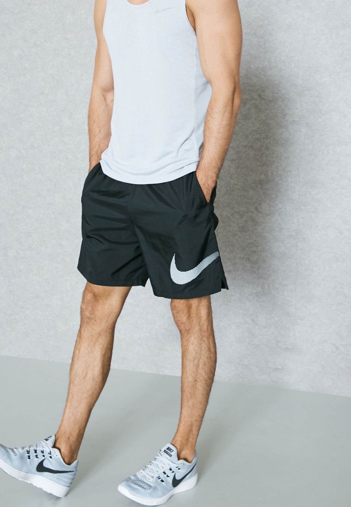 23db78010c Shop Nike black Dri-FIT City Core Shorts 833559-010 for Men in Oman ...