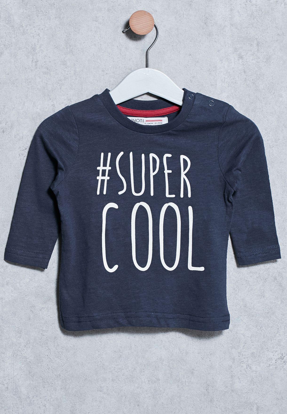 8ec5a4e34 Shop Minoti navy Infant Super Cool T-Shirt for Kids in UAE ...