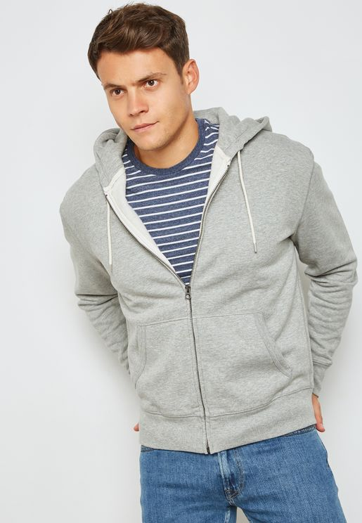 Brushed fleece Full Zip Hoodie