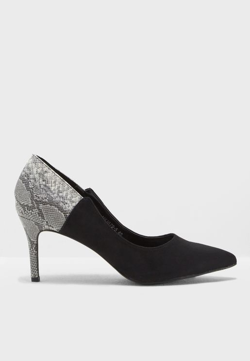 Sasha Snakeskin Court Shoes