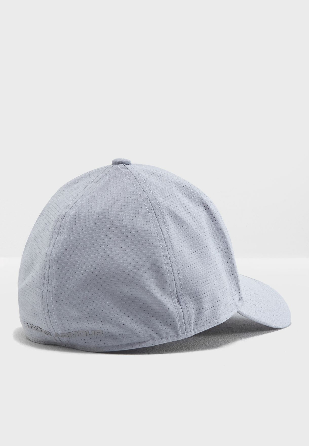 Shop Under Armour grey Coolswitch Logo Cap 1291856-941 for Men in ... 5456f304aa98