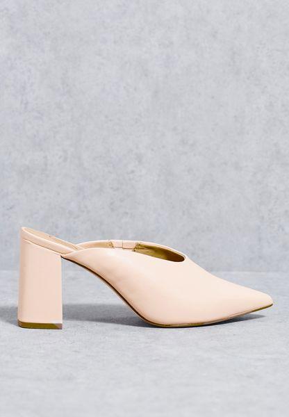 Pointy Toe Mule Heeled Shoe