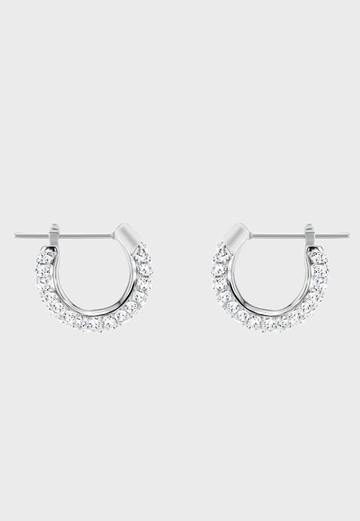 Stone Pe Hoop Earrings