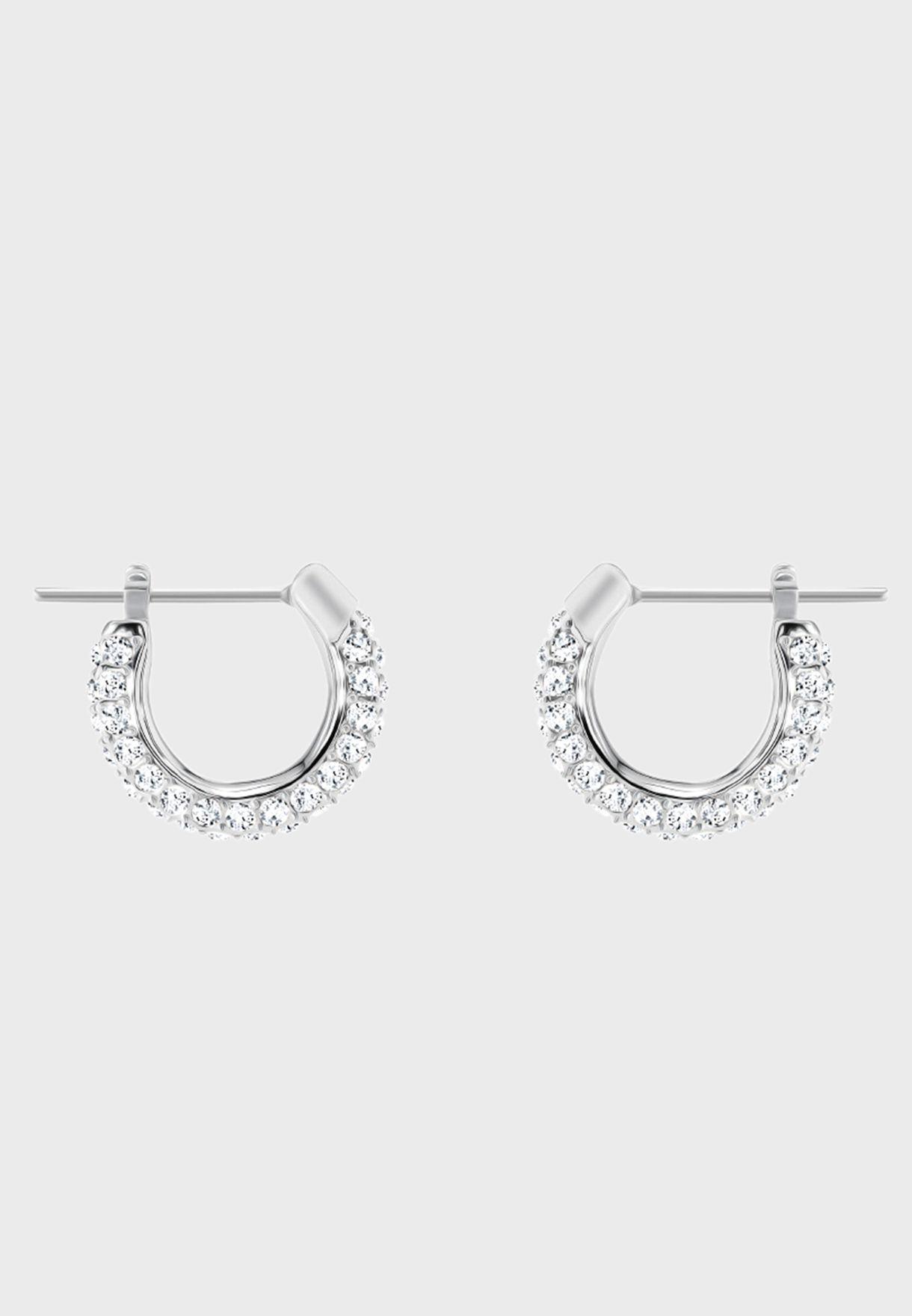 Stone Pe Hoop Earrings