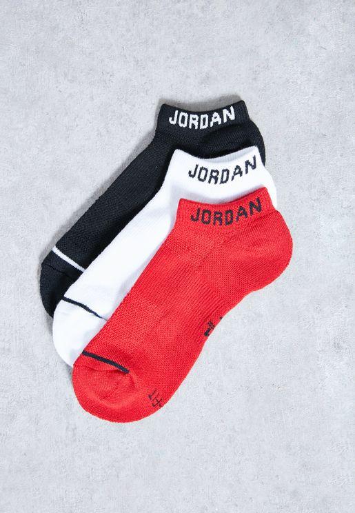 Jordan 3 Pack No Show Socks