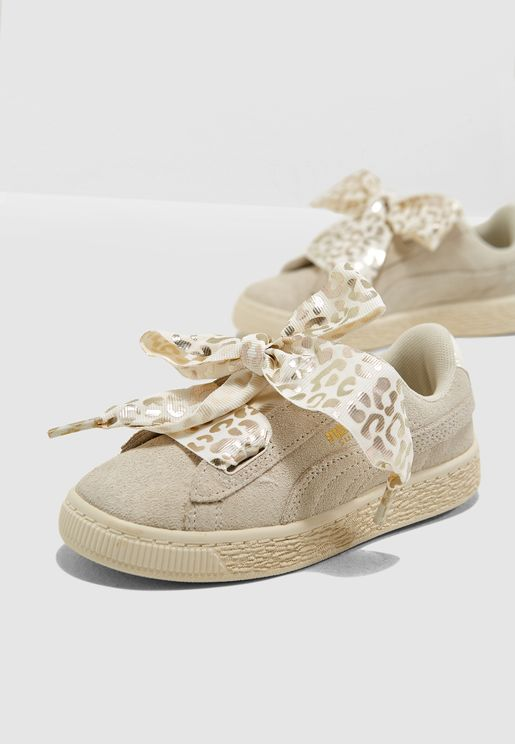 Kids Suede Heart ATH Luxe
