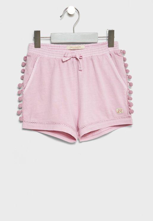 Little Pom Pom Detail Shorts