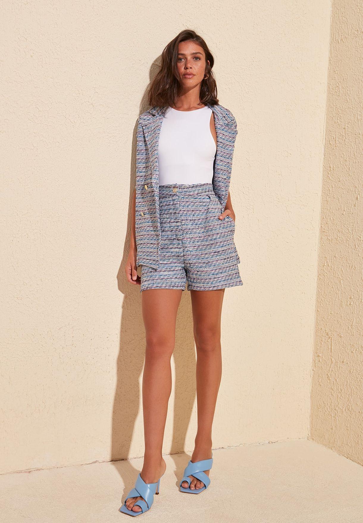 Printed High Waist Shorts