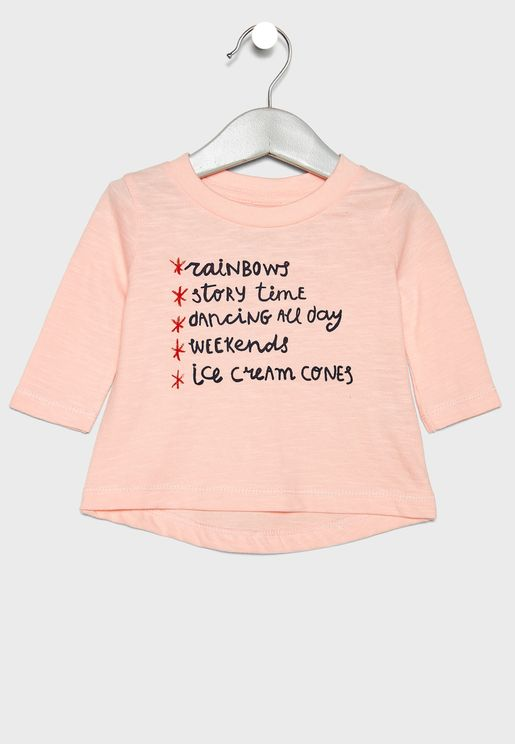 Infant Checklist Graphic T-Shirt